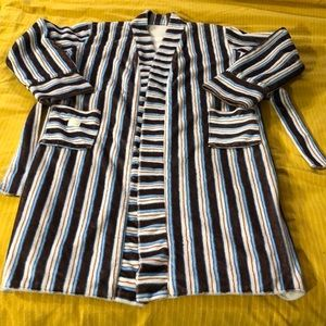 Kids stripe fuzzy robe